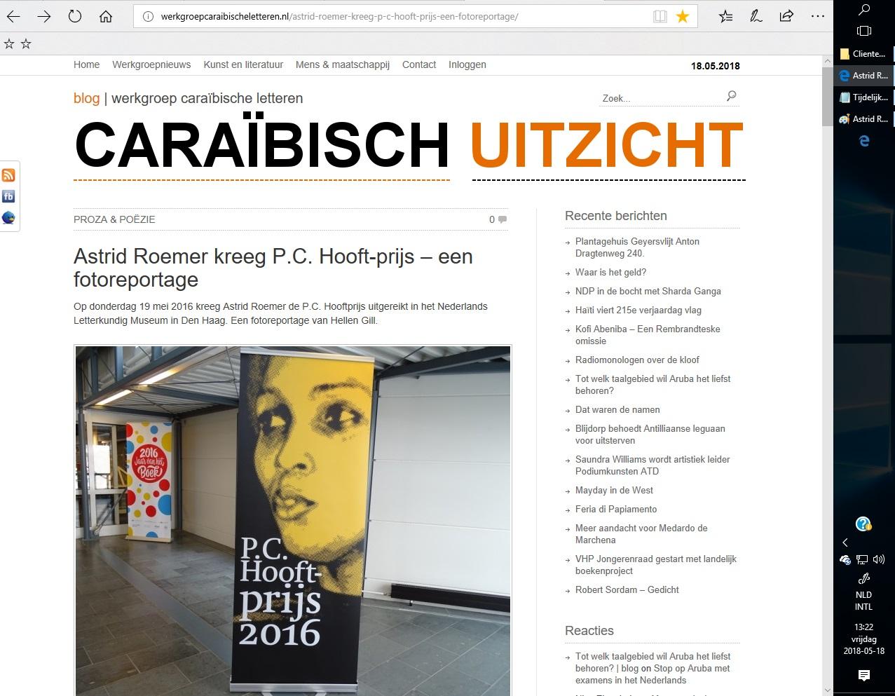 Astrid Roemer 2016 PCHooftPrijs2