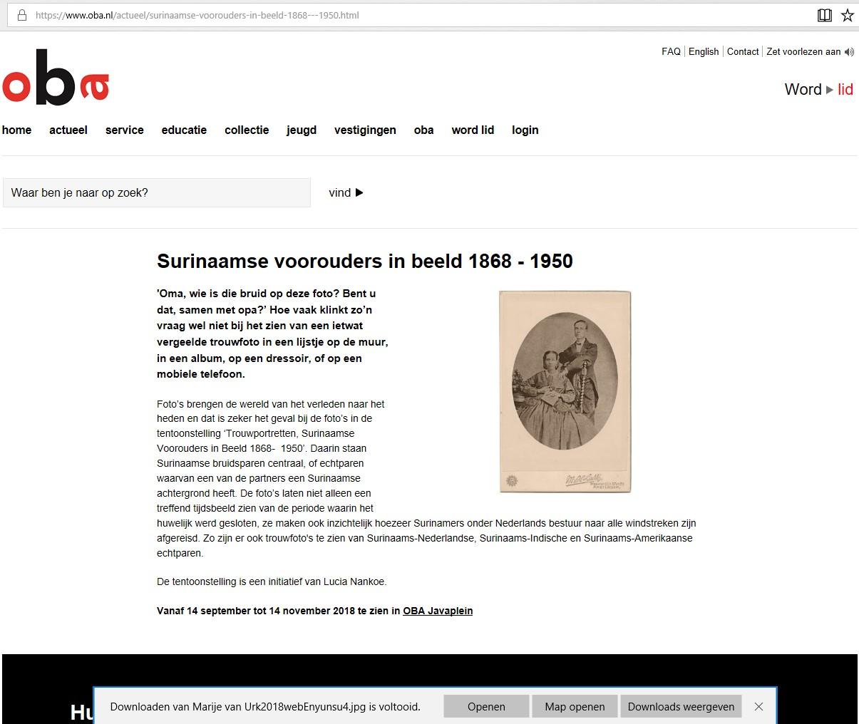 Lucia S Nankoe Surinaamse Voorouders in Beeld 1868-1950a
