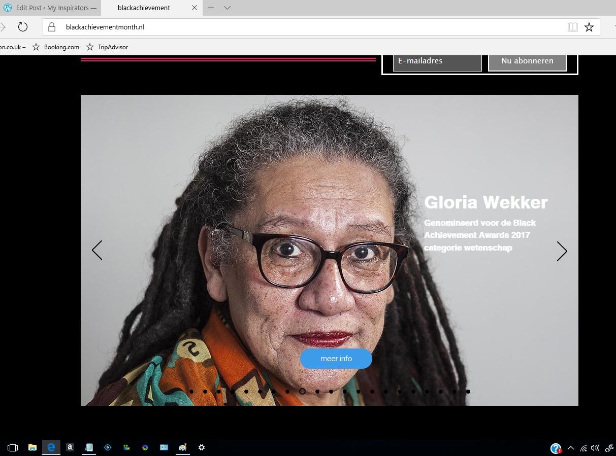 GloriaWekker2017BlackAchievementAward1