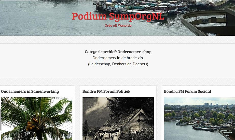 Bondru FM Forum (Ondernemerschap, Forum Politiek en Forum Sociaal)  Lees meer op platform hellenjgill.com