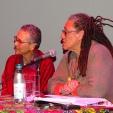 Philomena M Essed en Gloria Wekker. Foto: HellenJGill2015.
