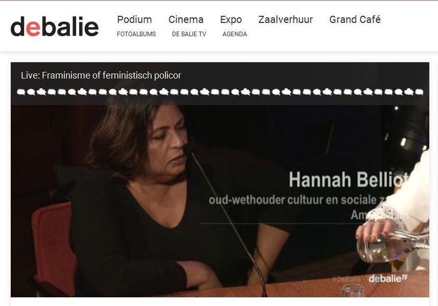 Hannah Belliot20160509 De Balie, Amsterdam.